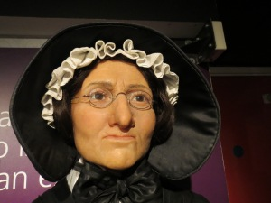Is it ironic that Madame Tussaud has a wax effigy?