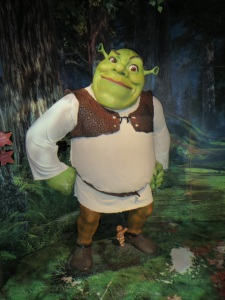 Shrek in wax at Madame Tussands Copyright L Debnam 2013